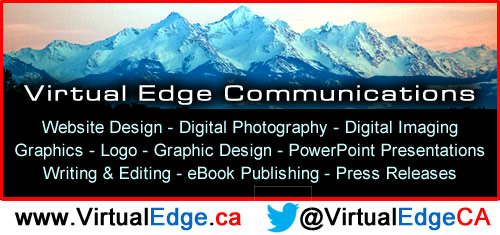 Virtual Edge Communications is located in White Rock, British Columbia serving the world in web design, digital photography, online advertising, PowerPoint, computer graphics, e-marketing, ebook publishing, and more.